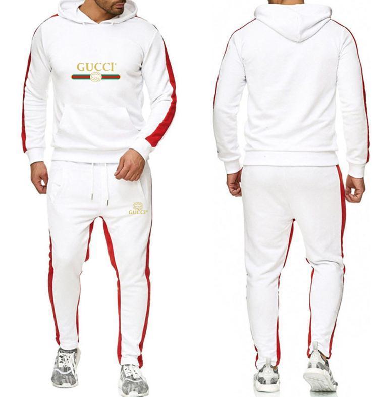 ostentam ternos homens treino de impressão moda do hoodie moletom mens outono estilo roupa casual sweatsuits homens de jogging conjunto