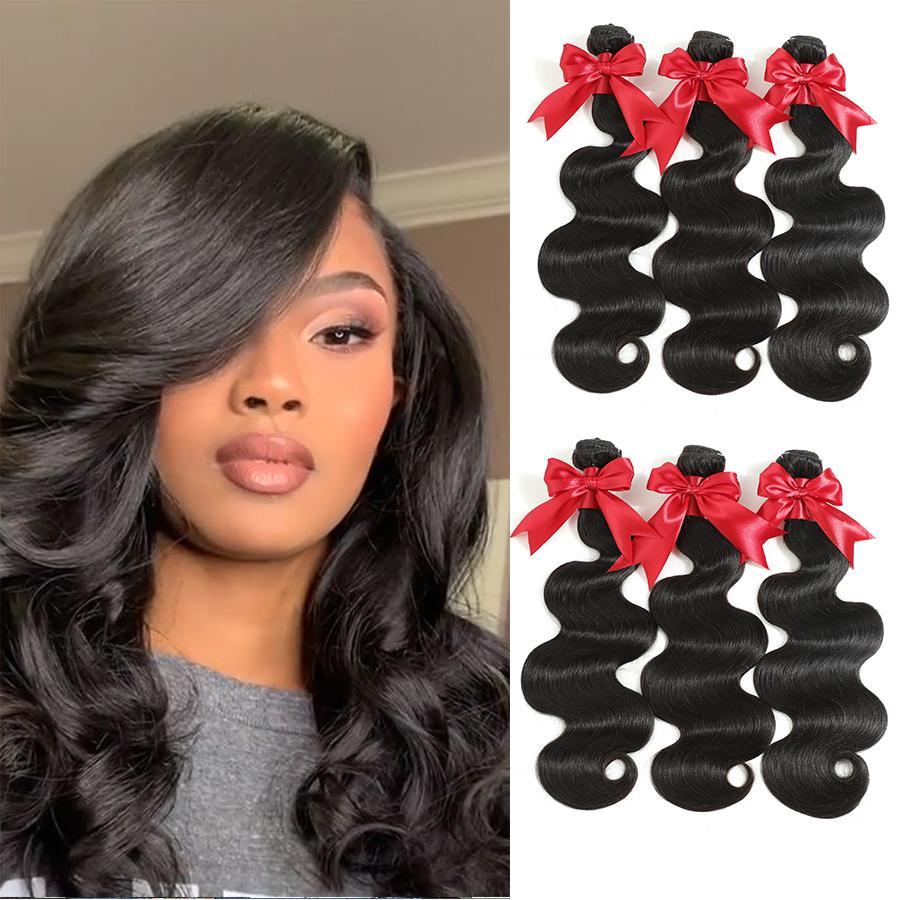 Новый перуанский человеческих волос Пучки с Closure Объемная волна волос Плетение 1Bundles С 6x6 HD Lace Closure