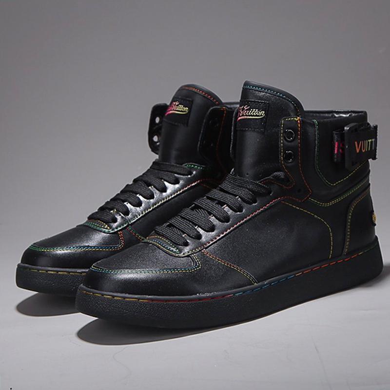 Moda Rivoli Sneaker Botas Mens sapatos de alta qualidade Confortável Luxo Footwears Lace -Up Plus Size Homens Botas Scarpe Sportive Da Uomo