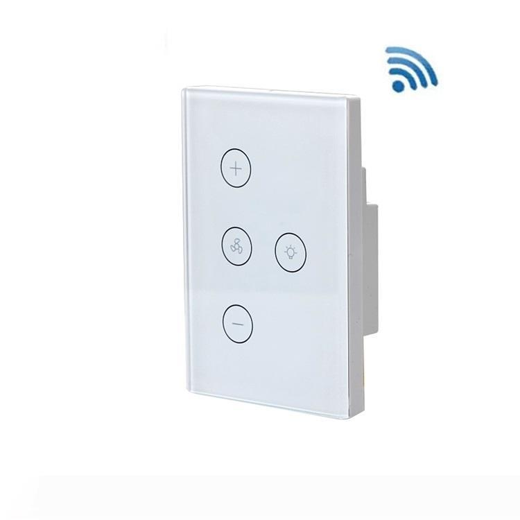 Aydınlatma Anahtarları Aksesuarları Ev Akıllı Yaşam Kontrolü Uyumlu Fan Işık için Akıllı Wifi Anahtarı