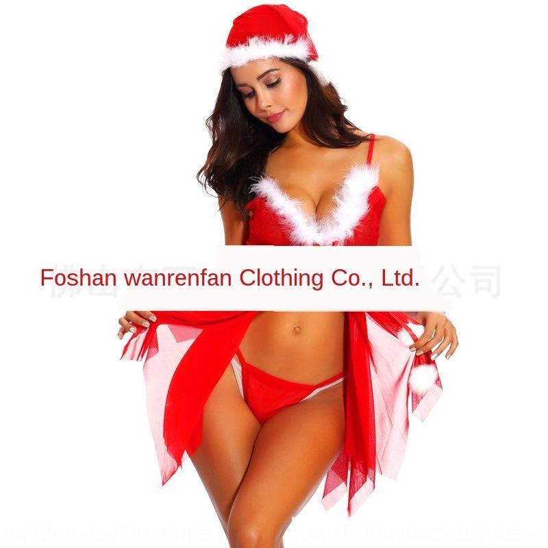 oHnM5 plus la taille de vêtements de sous-vêtements de Noël 6018 taille sexy vêtements de Noël de sous-vêtements sexy, plus pyjama 6018