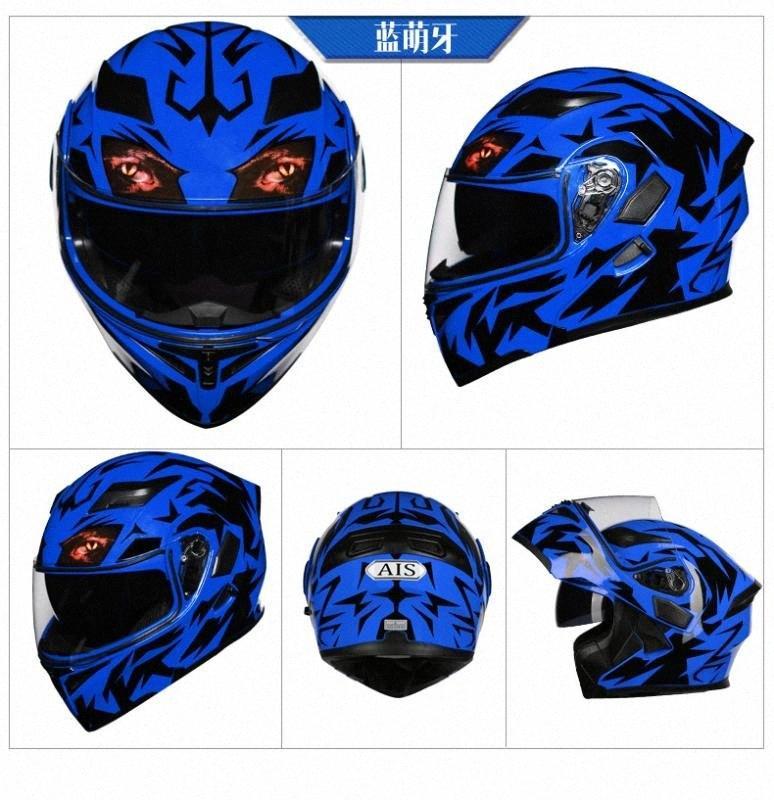 WOSAWE 2020 Novo capacete da motocicleta removível Reflective Off Road Scooter Helmet completa Visor Motocross Capacetes Seguro capacete da motocicleta Sco n6J4 #