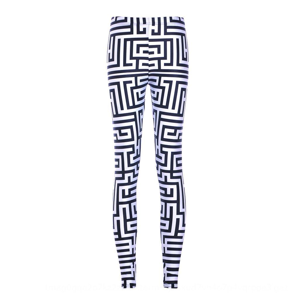 9HSnE apertado e Autumn fina Starry Sky e calças apertadas Labyrinth collants Digital imprimir calças pretas labirinto branco Primavera leggings Lgs3594