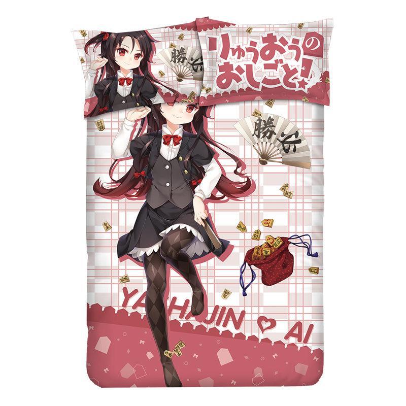 Anime Le travail de Ryuo est jamais Fait de Literie double / Reine / King 3pcs / 4pcs ensemble lit avec taie + drap housse + housse de couette lit cadeau
