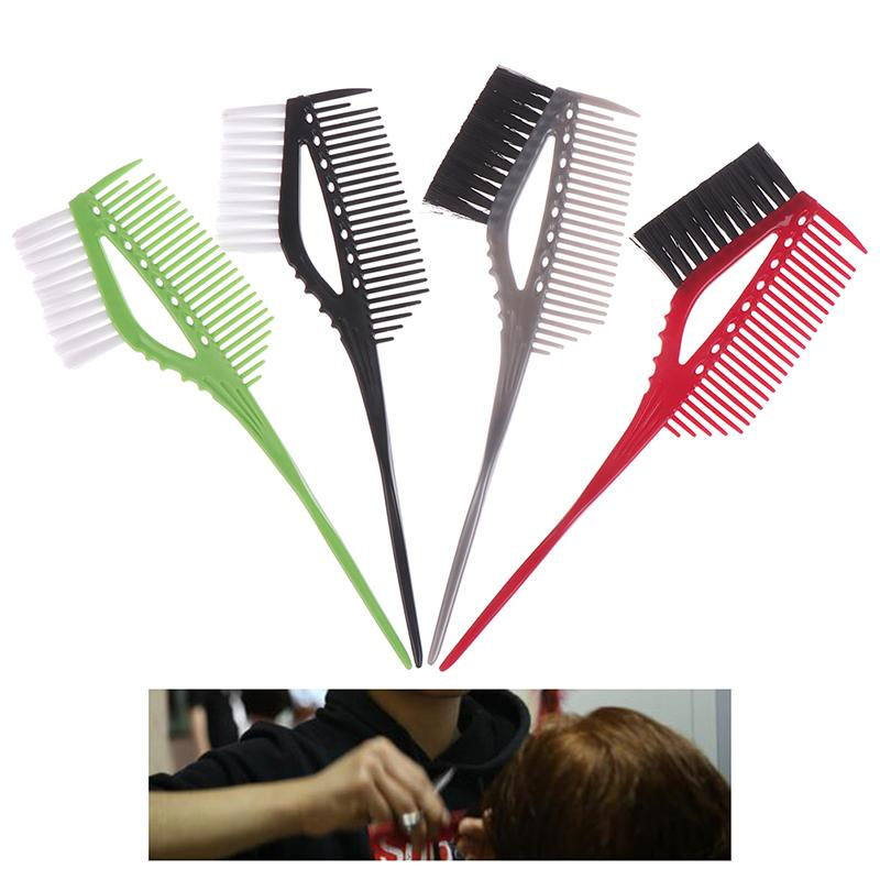 1pcs Pro DIY Hair Dye Coloring Brushes Comb With Brush Barber Salon Tint Hairdressing Styling Double-sided Hair Color Tools