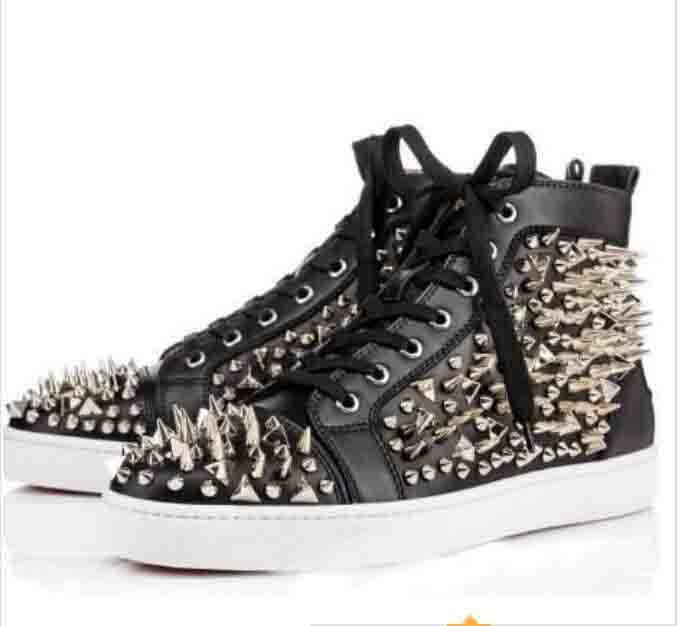 High Quality Red Bottom Spiked Sneakers