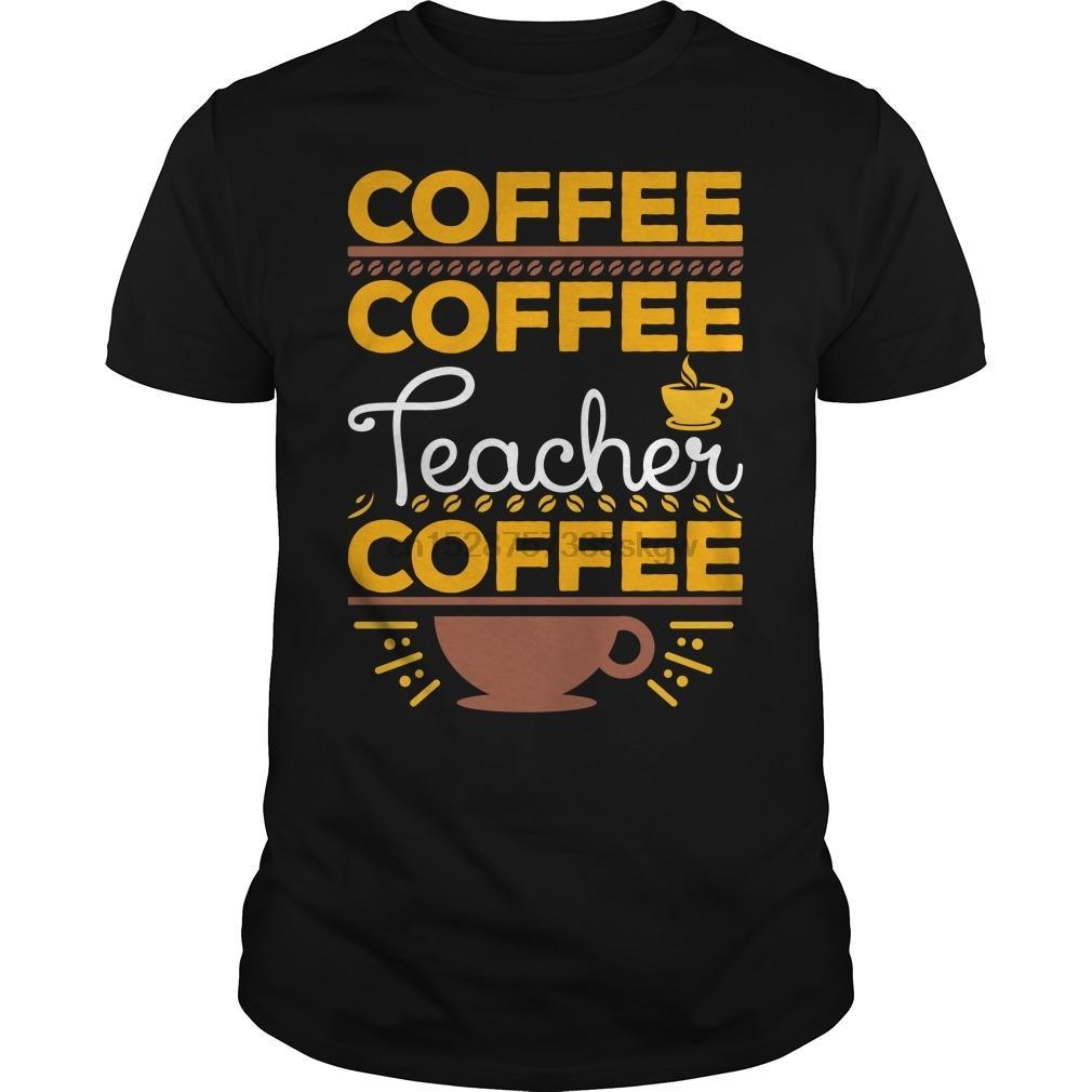 Les hommes tshirt café cool chemise enseigner des enseignants imprimé tees T-shirt haut