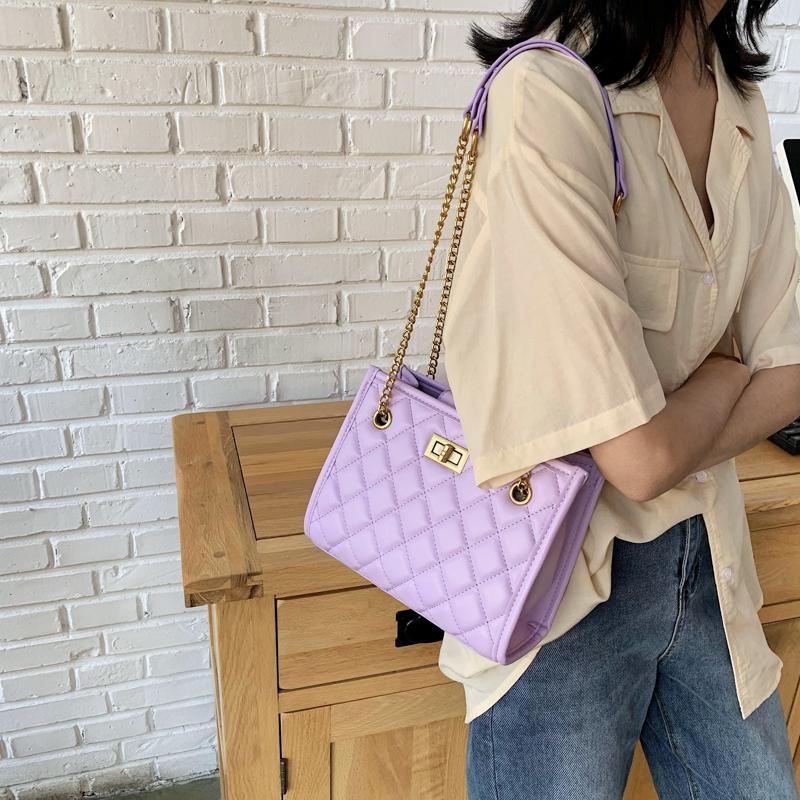 Taschen femme schulter ein frauen reisen lila sac pu handtaschen tasche weibliche luxus gesteppte taschen frauen designer ledertasche main groß bupdv
