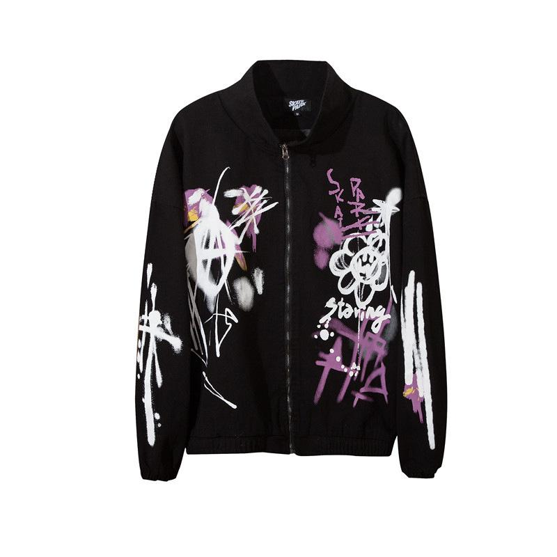 Erkek Tasarımcı Kışlık Mont Mektup Baskı Erkek Ceketler İlkbahar Sonbahar Artı Boyutu Ceket Erkek Tasarımcı Sonbahar Mont Palms Melekler Rüzgarlık