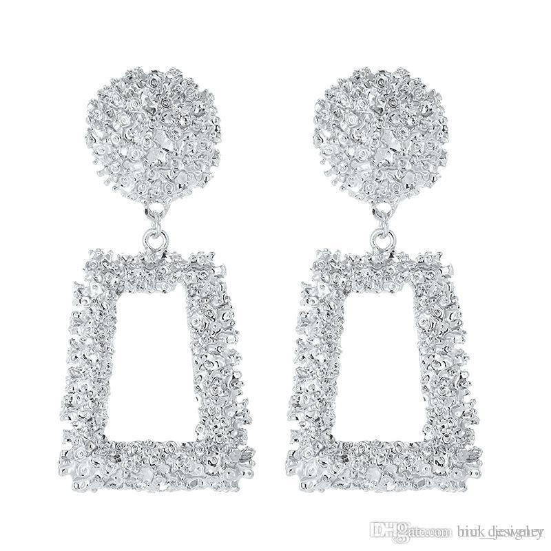 Largo de perlas borla de lujo del perno prisionero de los pendientes de las mujeres diseñador de moda pendientes del aro de joyería y accesorios para la fiesta de la boda regalo de la promoción