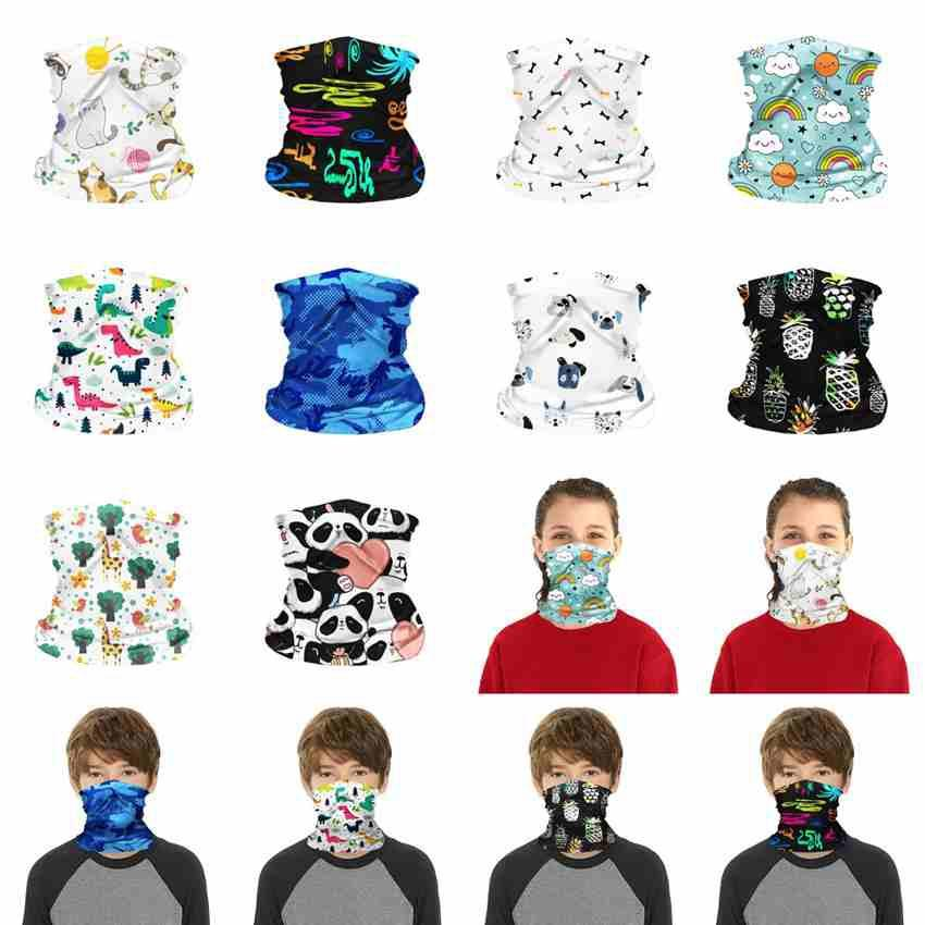 Children Face Mask Kids Washable Reusable Protective Mask Outdoor Sport Cycling Magic Scarf Bandana Headband Turban Bandanas ZZA2473 250Pcs