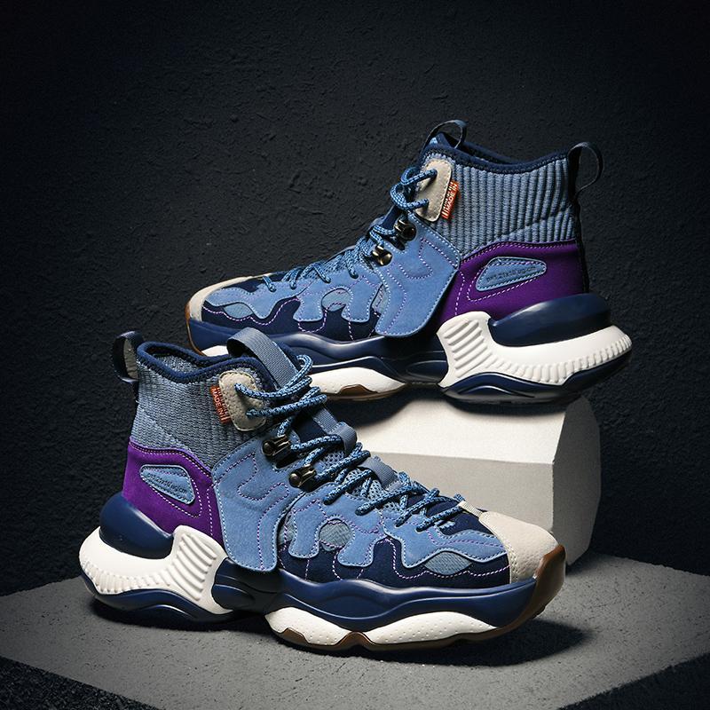 Erkekler Chunky baba için Ayakkabı Koşu Trend Yüksek Top Koşu Sneakers Erkek Nefes Spor Zapatillas Hombre DEPORTIVA Ayakkabı