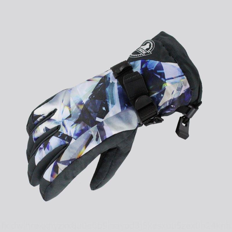 all'aperto uomo e invernali di sci per le donne in bicicletta caldo impermeabile piena moto antiscivolo antivento guanti del motociclo caldi dito NuXf2