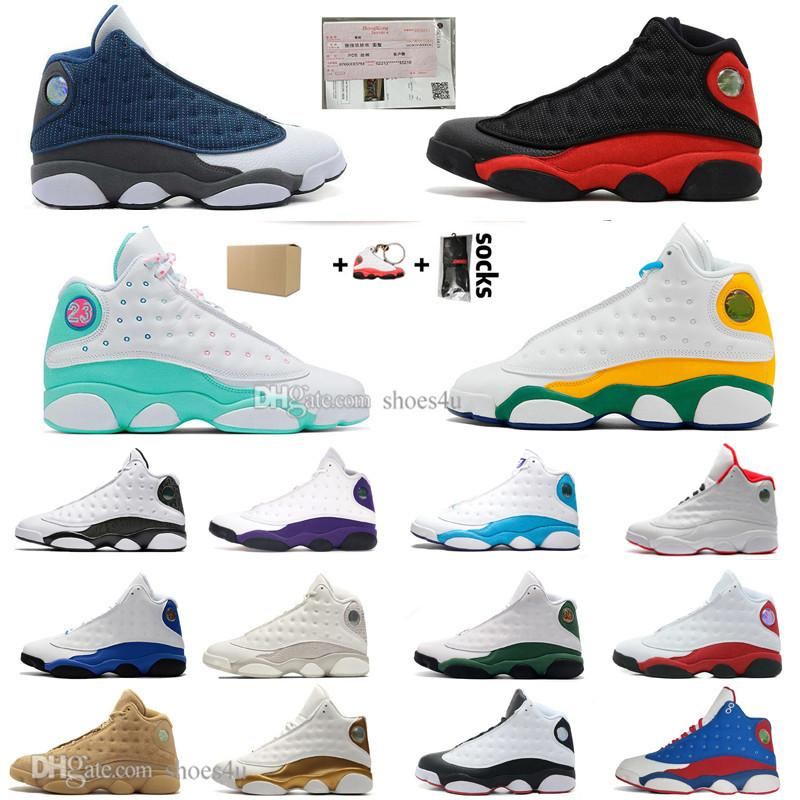 New 13 13s Flints Bred CNY Basketball Shoes Chicago PE Home Captain America Island Green Court Purple Lakers Mens Sports Designer Sneakers