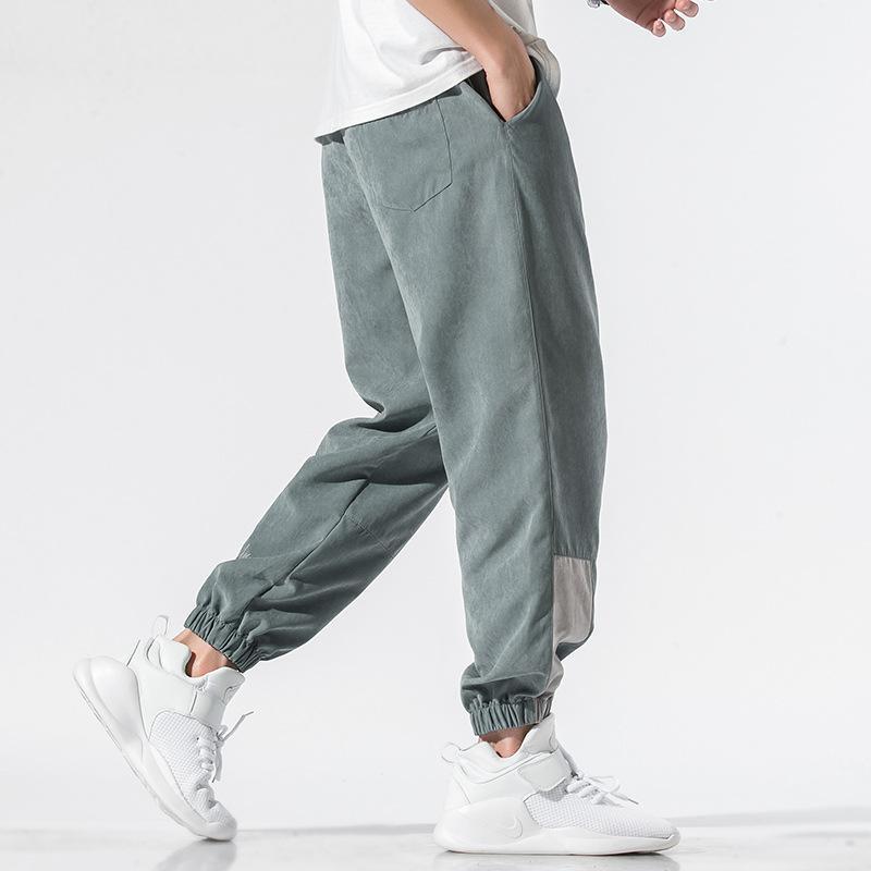 Pantaloni autunno primavera Pantaloni Streetwear Color Giapponese Uomini Patchwork Taglia M-4XL Hop Pantaloni Hip Pantaloni Pantaloni Coulisse Uomo Plus Matita CWosc