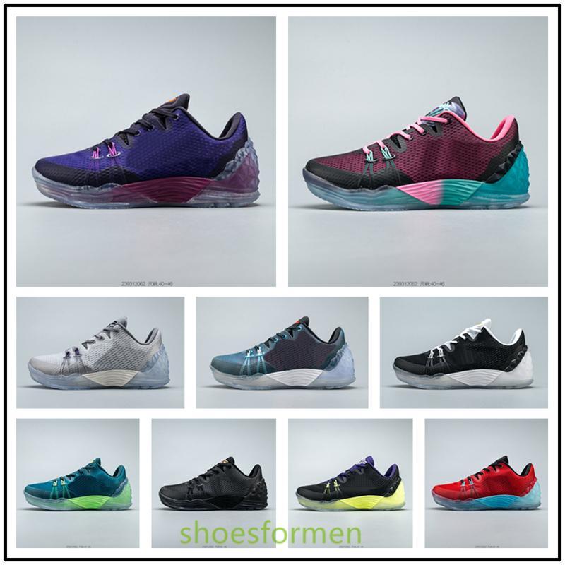 Nike Zoom Kobe Venomenon 5 بيع رجال حار عالية الجودة للمرأة أحذية كرة السلة مامبا 5 V تكبير 5 Protro المرحلة الكبير ليكرز مامبا 2K في الهواء الطلق حذاء رياضة size40-46