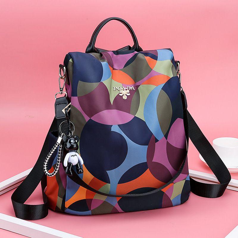 الملونة فتاة حقيبة المرأة حقيبة يد سعة كبيرة حقيبة الظهر للكلية طالب مدرسة حقيبة الحرة الشحن WJJ