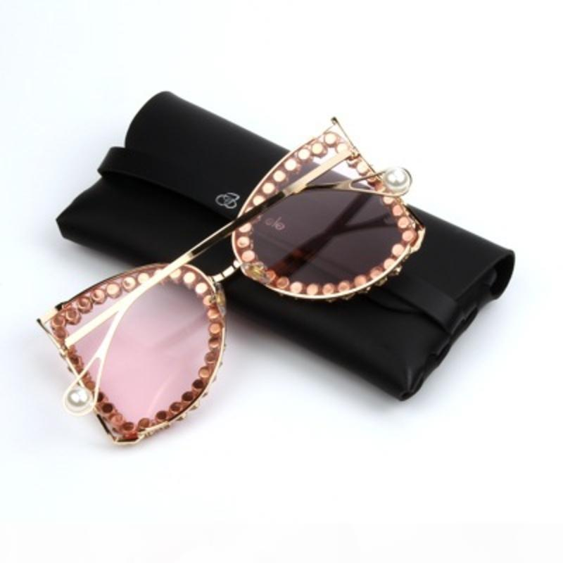occhiali da sole oversize moda di tendenza per le donne sole lenti oceano brand designer occhiali 2020 lusso rhinstone signore tinte chiare