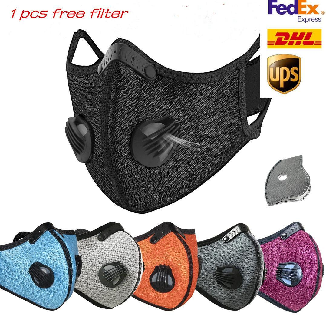 Дизайнер Велоспорт New Face Mask Активированный уголь с фильтром РМ2,5 Anti-Загрязнения Спорт Запуск Обучение защиты от пыли маски