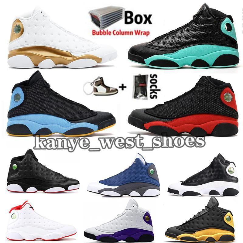 2020 con la scatola Jumpman 13 13s Mens Basketball Shoes Designer Chris Paul Lontano Black Cat Green Island Bred DMP Scarpe da ginnastica Sport Formatori Size13