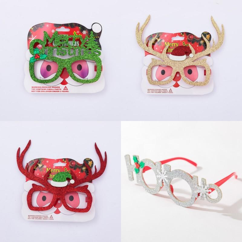 Costume de Noël Lunettes Cadre adulte Enfants Noël Photographie Props Moose Merry Christmas Party Spectacle cadre 12 modèles
