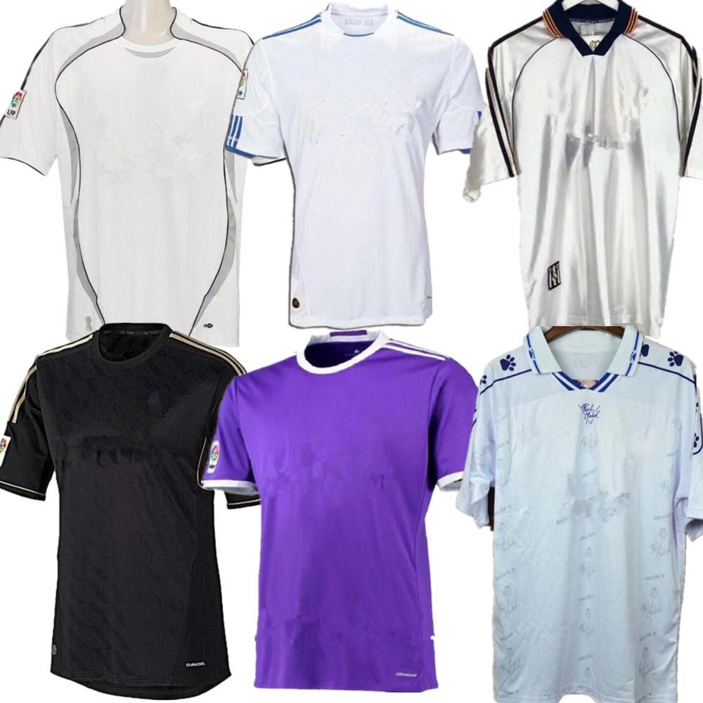 94 95 97 98 04 05 camicia 99 07 08 09 10 ZIDANE BECKHAM RONALDO Antico calcio retrò Real Madrid RAUL soccer jersey