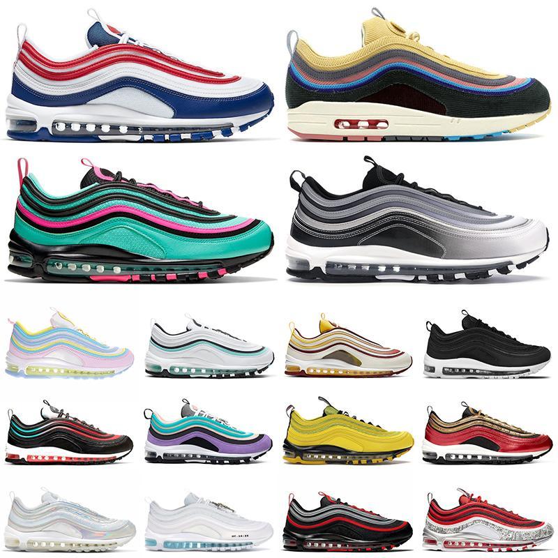 nike air max 97 airmax 97s Sean Wotherspoon Laufschuhe ungeschlagen Chaussures Womens Mens Trainer Outdoor Sport Turnschuhe