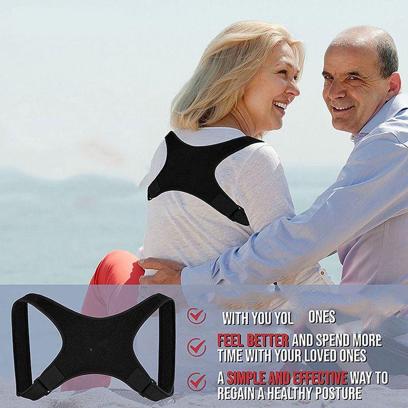 Die neue Körperhaltung Korrektor Rückseite Unterstützung Klammer Clavicleweinlesehalskette Unterstützung Rückengurt Corrector für Frauen und Männer Korsett Haltungskorrektur