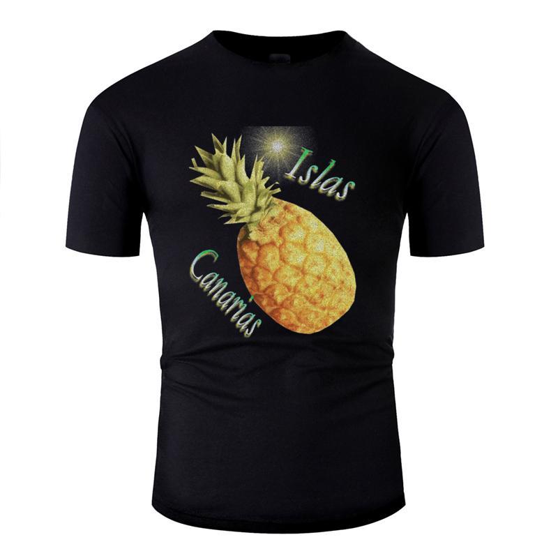 Casual personalizado piña canaria camiseta de 2020 hombres blancos de la camiseta de algodón hilarante gran tamaño S ~ 5XL Hip Top
