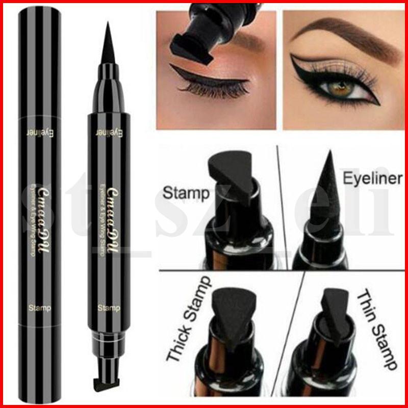 CmaaDu Profesional doble extremo delineador de ojos Lápices de Cupones Smooth Pigmentos de larga duración delineador de ojos a prueba de agua del maquillaje de la pluma Cosméticos Liner