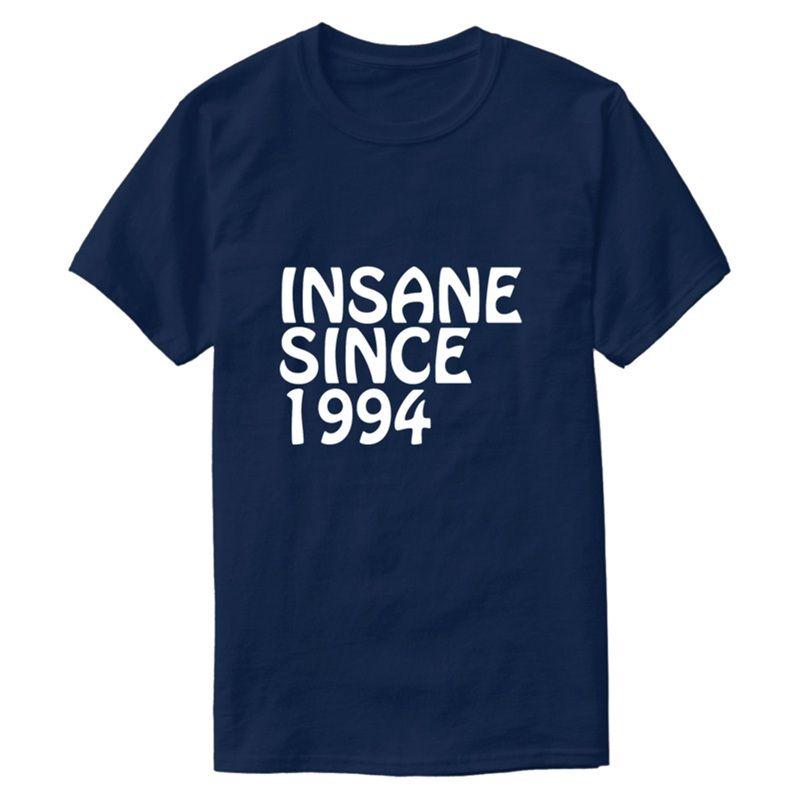 Смешной Customized Безумного С 1994 года Днем рождения Подарков для печати T-Shirt Cute шеи Женщина Comic Мужчину Tshirts 2020 Tee Shirt
