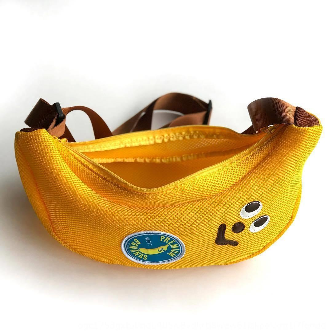 Japanese Miscellaneous Appendix Snoopy new mesh cartoon bag shoulder messenger Banana banana bag