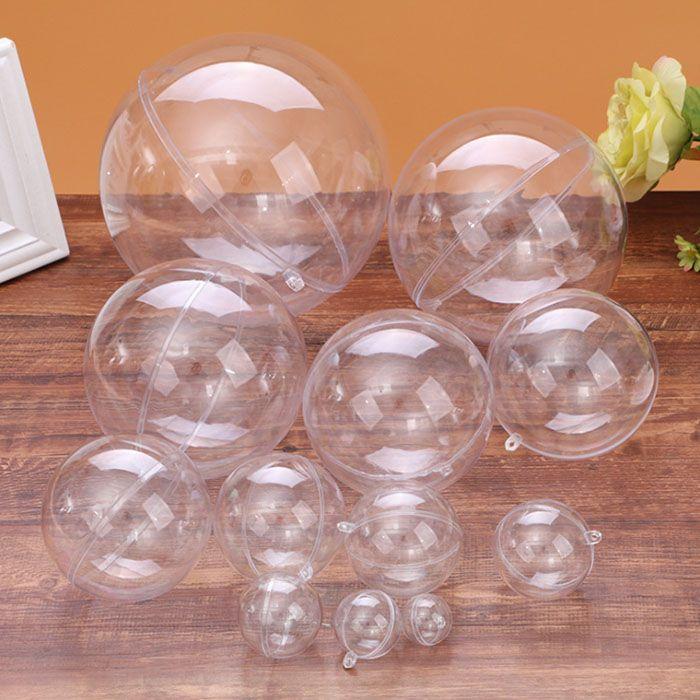 La tutela dell'ambiente regalo di nozze decorazione trasparente sfera di plastica decorazione dell'albero di Natale palla Anello di caramelle vuote palla alimentari