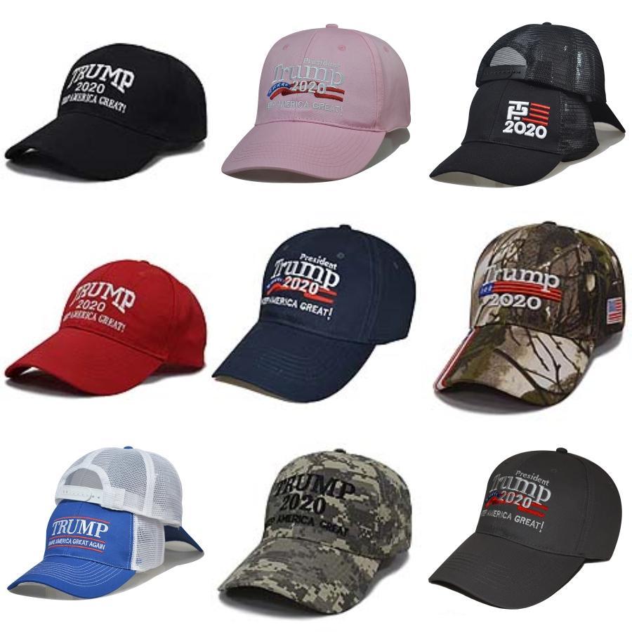 Nuevo 4 Estilos Donald Biden sombrero de béisbol gorra de camuflaje Star USA Bandera Keep America 2020 Gran Sombrero bordado 3D Carta ajustable del Snapback # 689