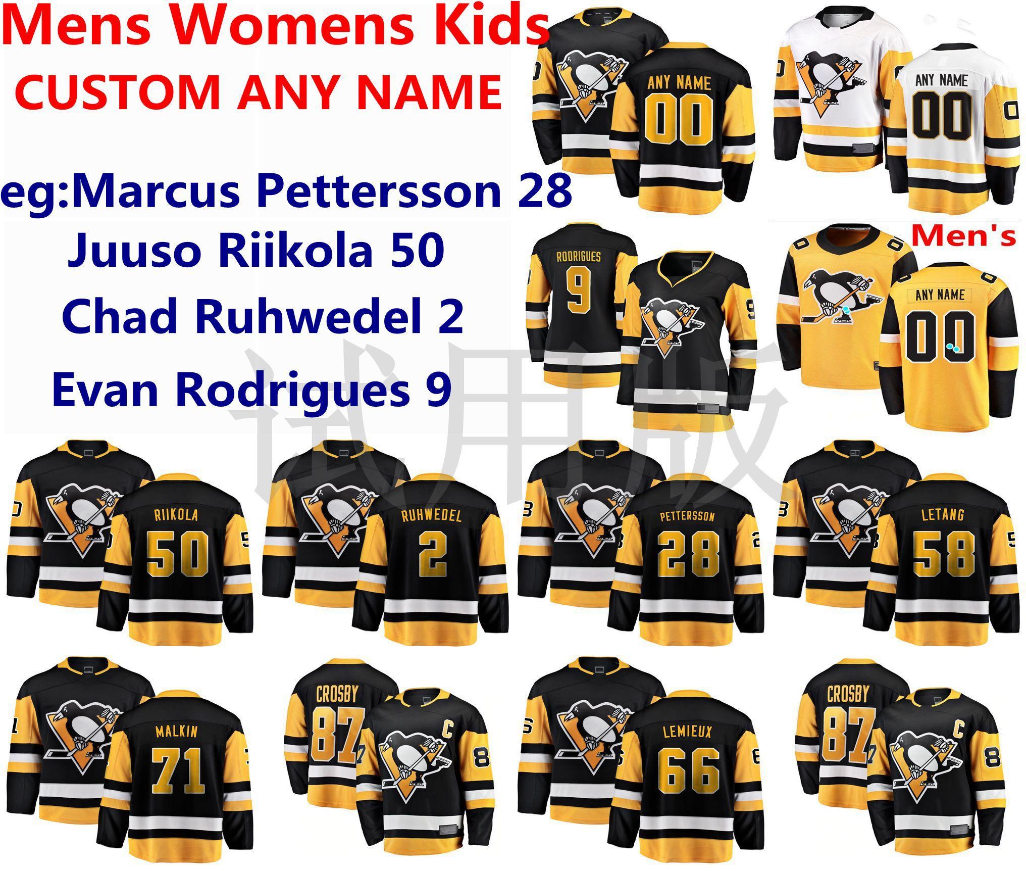 2021 Pittsburgh Penguins Jerseys Marcus Pettersson Juuso Riikola ...