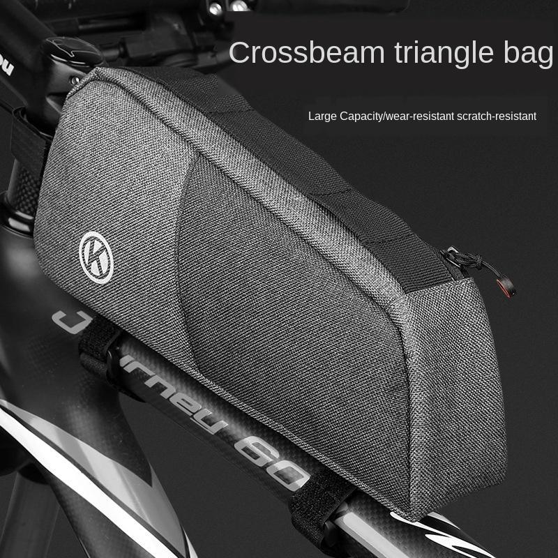 Ön ışın üçgen uzadı üçlü sabit bisiklet bisiklet dağ bisikleti ışın torba büyük kapasiteli bisiklet çantası