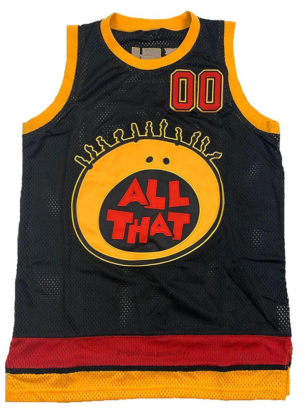 Top Qualité Tout ce Kel Mitchell # 00 Jersey Basketball Men's 100% cousu noir taille S-3XL maillots