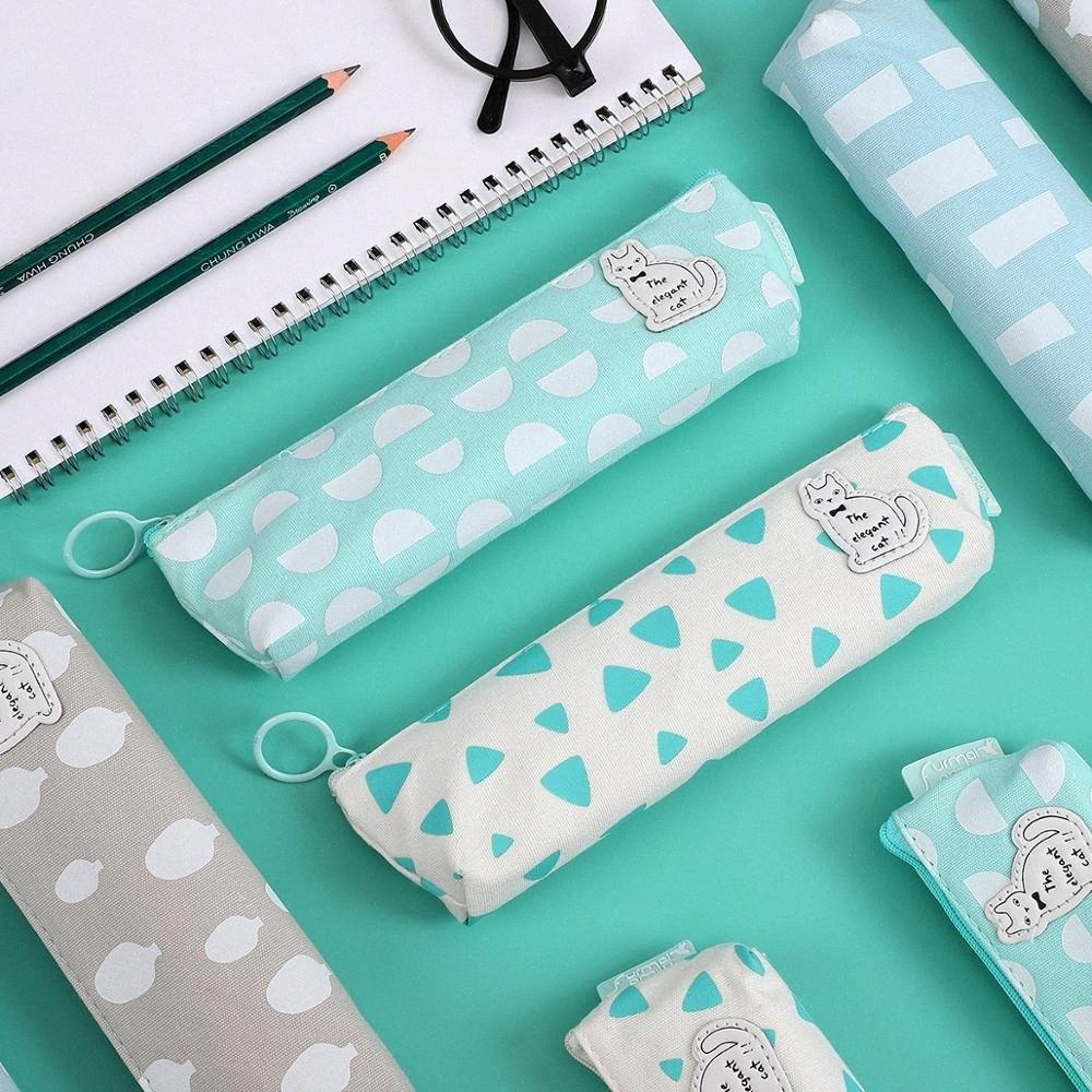 JIANWU Fresh Style Cat Series Pencil Case Canvas Pencil Box Kawaii Pouch Bag School Supplies Stationery HScH#