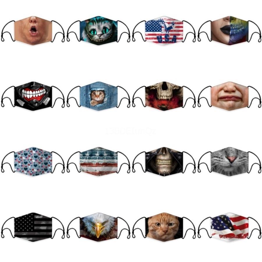 Маски Свободная пыль маска для лица Рот Er фильтр пыле Защитная маска с 2 Фильтры РМ2,5 На складе # 383