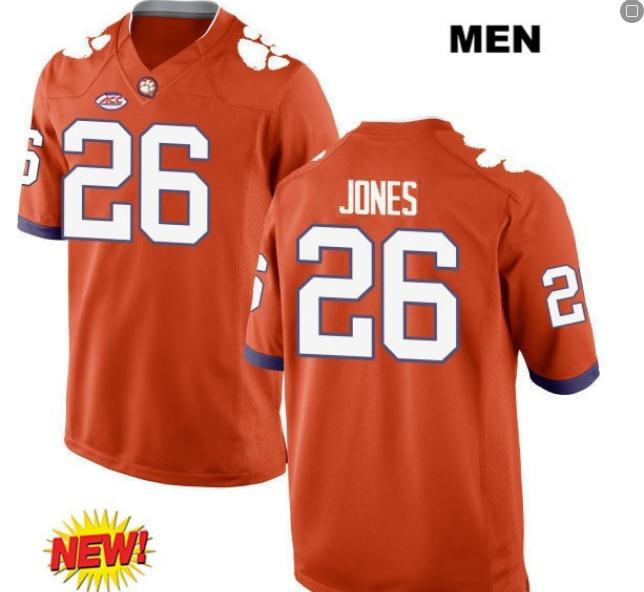 Women Clemson Tigers Sheridan Jones #26 LADIES real Full embroidery College football Jersey Size S-4XL or custom any name or number jersey