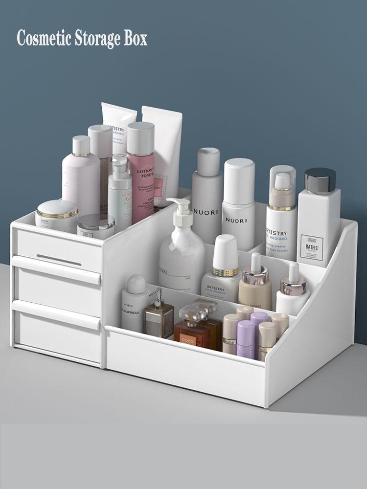 Large Capacity Dresser Cosmetic Office supplies Storage Box Jewelry Makeup Nail Polish Mask Small Items Sorting Storage Box CX200716