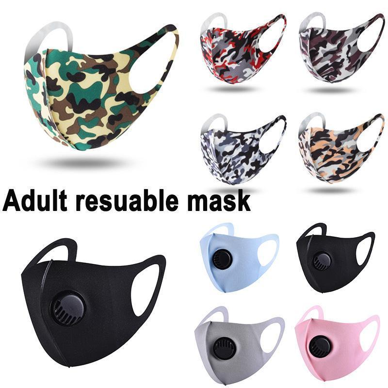 Ultrathin Summer Face mask Camouflage Mouth Masks Camo Print Earloop Respirator Anti-Dust Face Mask For Man and Woman