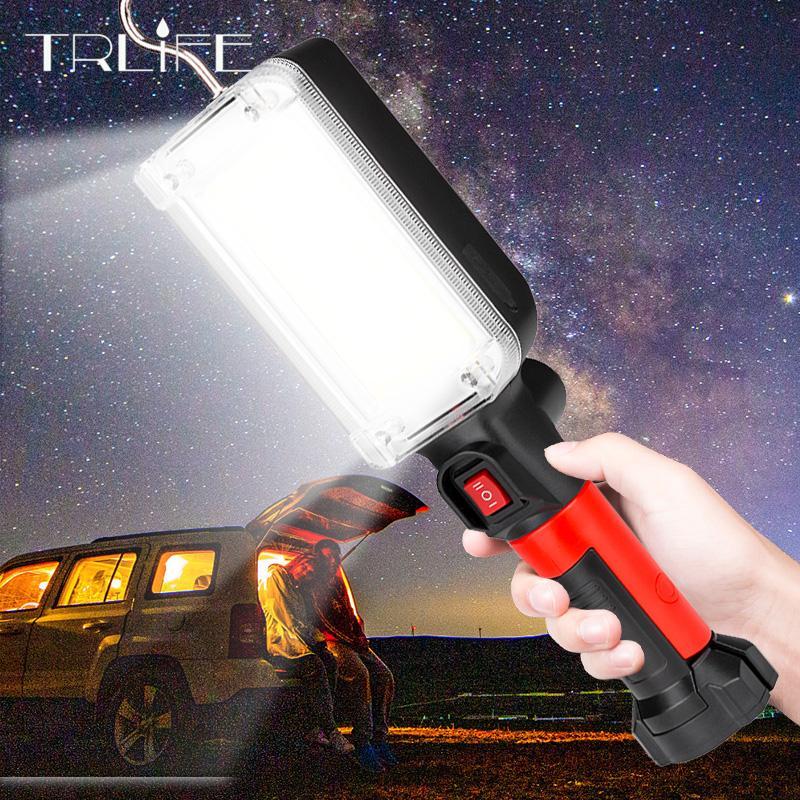 8000 lumen torcia USB chiaro ricaricabile COB Lavora con torcia tende gancio magnetico campeggio lavorative manutenzione della lanterna LED