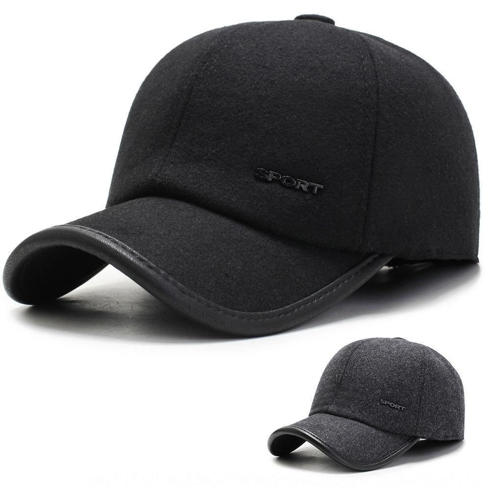 masculino de meia idade e idosos Quente boné de beisebol e um chapéu de idosos do sexo masculino inverno quente temporada chapéu pai proteção de orelha gorro de lã