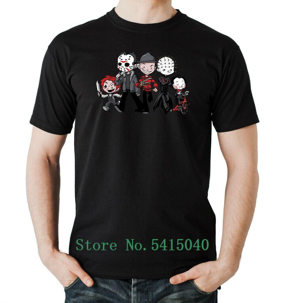 Halloween-Crew Jungen Schwarz Horror, Team, Group- S-5xl Michael Myers Freddy Krueger Männer Frauen Unisex-freies Verschiffen T-Shirt Mode