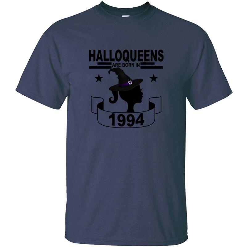 Lema Halloqueen nacen en 1994 de Halloween Camiseta hombre inconformista Negro Comics hombres y las camisetas de las mujeres 2020 de gran tamaño S-5XL