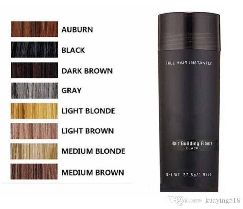 La fibra de queratina del cabello proyección de polvo de adelgazamiento del cabello Corrector 10colors DHL de envío