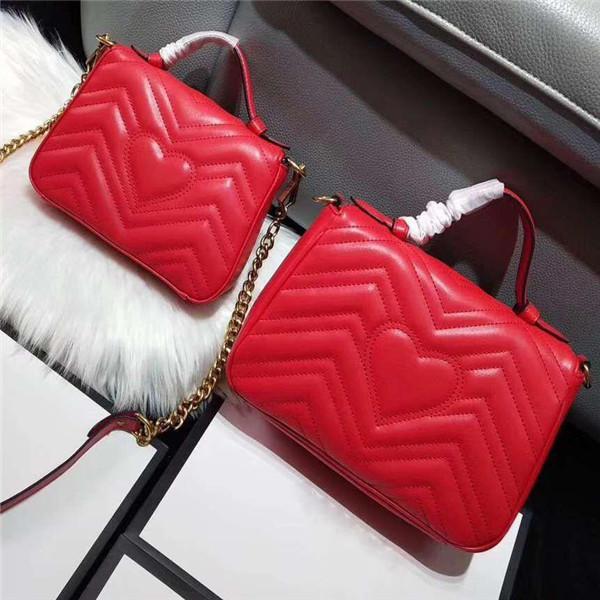 XX Classique Mode Amour coeur V Motif en vagues Satchel Designer Sac à bandoulière chaîne sac à main de luxe sac à bandoulière sacs fourre-tout Dame