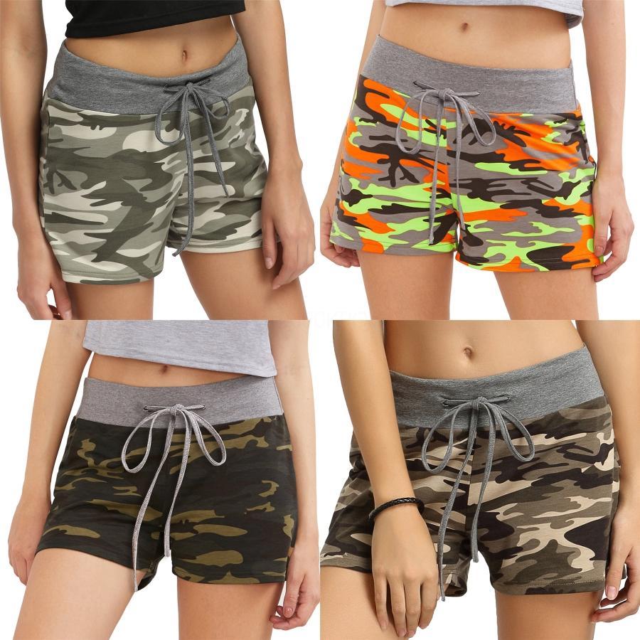 Hirigin 2020 Summer Hot Style Женщины Девушки Повседневный высокой талией 2 цвета Цветы Pattern Короткие штаны Beach Party # 9721