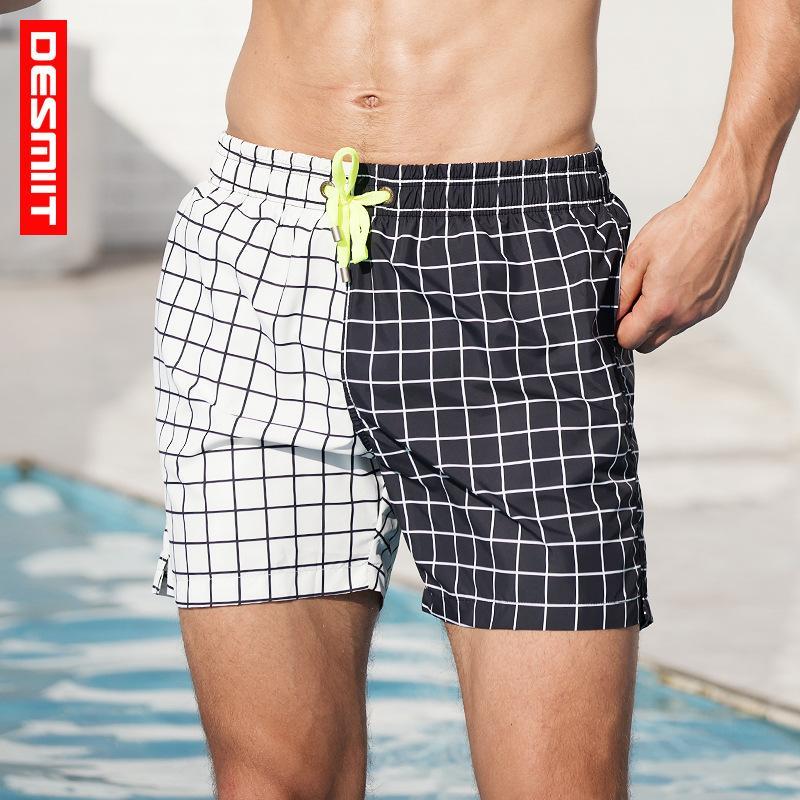 Desmiit Plaid Maillots de bain Homme Boxer Maillot de bain Shorts de plage Maillots rapides Dry Shorts de sport bain pour hommes Maillot De Bain Homme